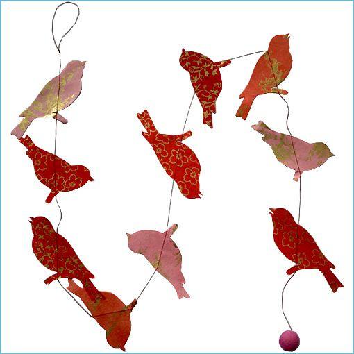slinger, vogel, rood