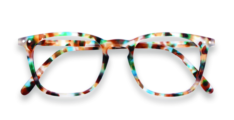 Izipizi, leesbril, model E, blue tortoise, diverse sterktes