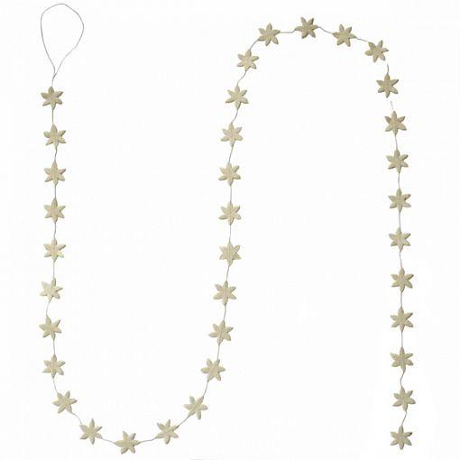 slinger witte sterretjes 150 cm