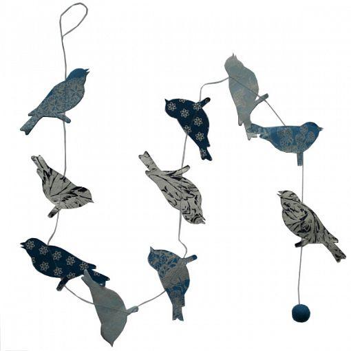 slinger vogel blauw