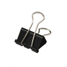 Foldback clip zwart 25 mm
