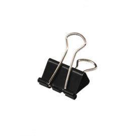 Foldback clip zwart 15 mm