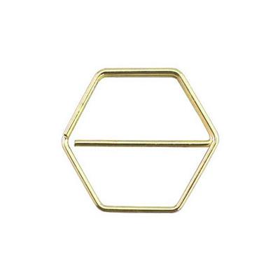 Paperclip honingraat goud 25 mm | 10 stuks