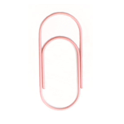 Paperclip roze 50 mm | 10 stuks