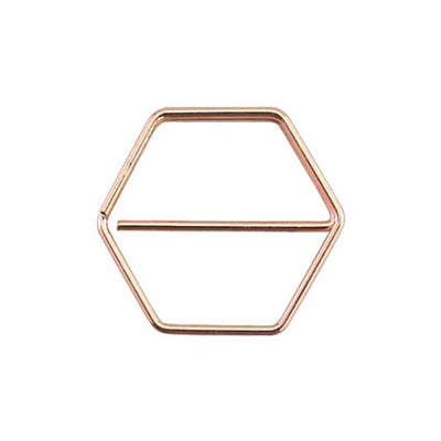 Paperclip honingraat koper 25 mm | 10 stuks