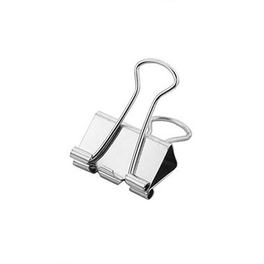 Foldback clip zilver 19 mm