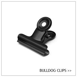Bulldog clip, zwart, zilver