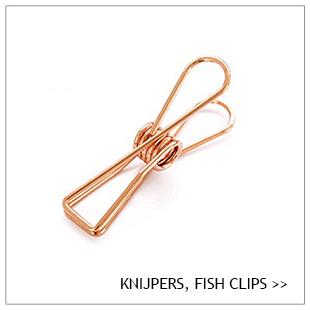 Knijper, fish clip, metaal