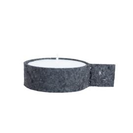 Vilten waxinelichthouder L - Chalkboard Black