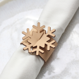 Set servetringen Sneeuwvlok - leer