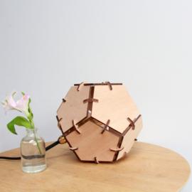 Dodecahedron Tafellamp - Okoume