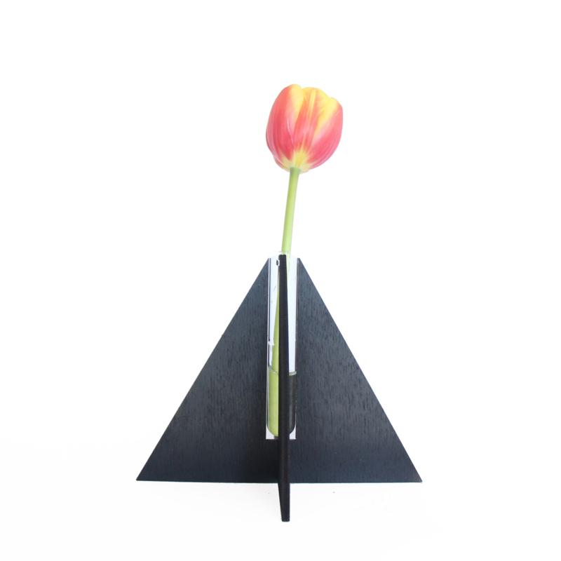 Triangle Vaasje - zwart
