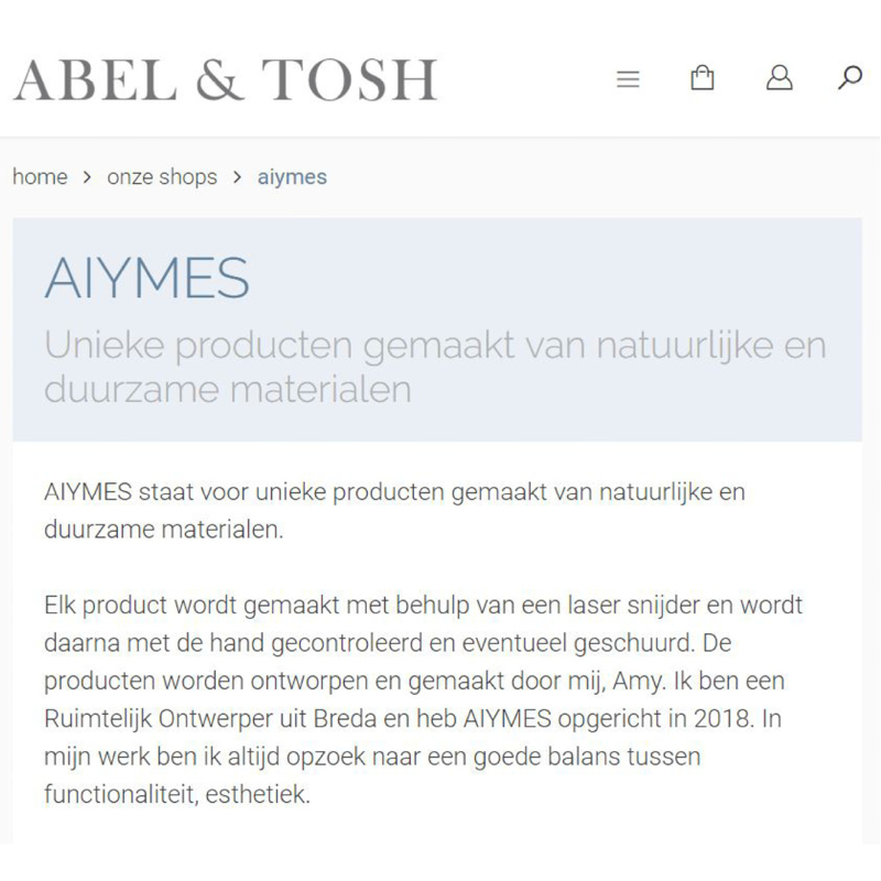 Verkopen op Abel & Tosh