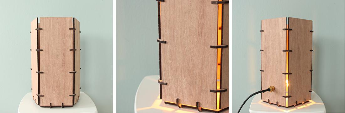 Maatwerk - Houten lamp