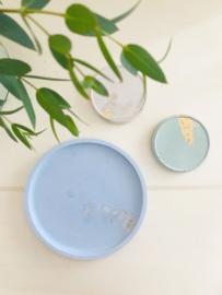 Tray #Gold #BlueCeruleum #001