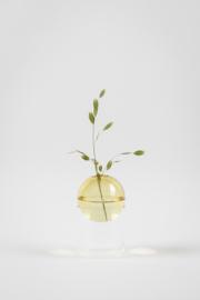 Flower Bubble Vaas Hoog - Licht Geel
