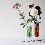 Flower Tube Vaas Hoog - Amber