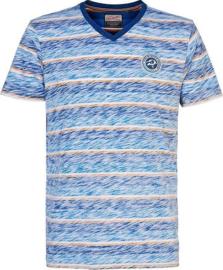 V-hals T-shirt blauw