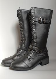 Mustang laarzen met siergespen black