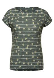Shirt met burn-out-look