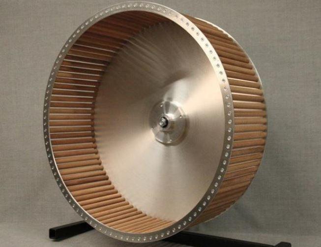 50 cm aluminium met beukenhouten stokken zonder  standaard
