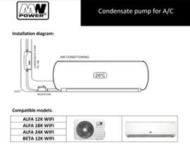 Aircoxxl condensafvoer pomp 10 m Hoogte
