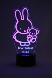 Nijntje met eigen tekst led lamp