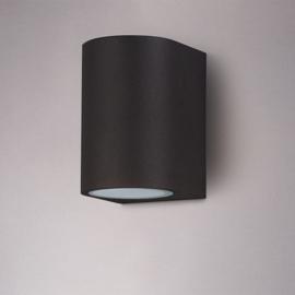 LED wandlamp Alvin Zwart excl. lichtbron