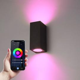 Smart WiFi LED wandlamp Selma RGBWW, IP44