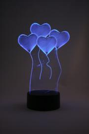 3D hartjes led lamp