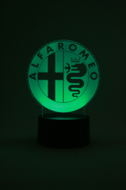 Alfa romeo logo led lamp