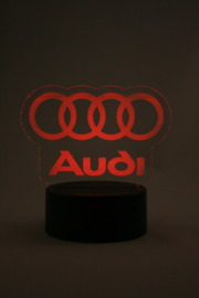 Audi logo led lamp