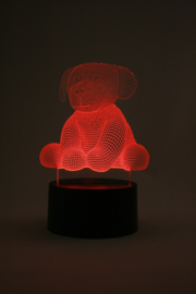 Knuffel hondje 2 led lamp