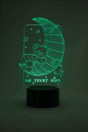 Slapende beer met eigen tekst led lamp