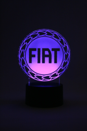 Fiat logo led lamp
