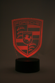Porsche logo led lamp