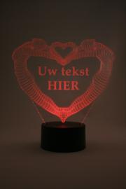 Vrouw & vrouw hart met eigen tekst led lamp