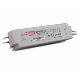 Meanwell LED transformator 36 Watt 12V niet dimbaar
