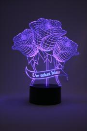 Rozen met eigen tekst led lamp