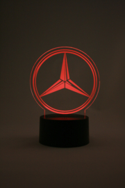 Mercedes logo led lamp