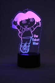 Dora met eigen tekst led lamp