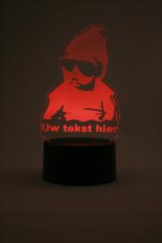Baby met eigen tekst led lamp