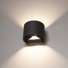 LED Wandlamp Denver Grijs
