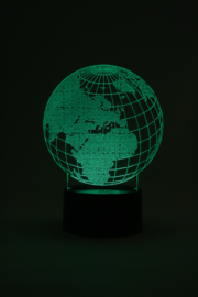 Wereldbol led lamp