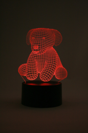 Knuffel hondje 1 led lamp