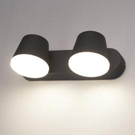 LED Wandlamp Memphis Duo Zwart