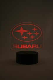Subaru logo led lamp