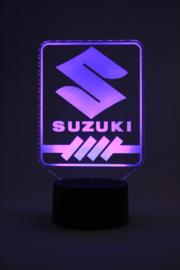 Suzuki logo led lamp