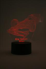 Formule 1 auto met eigen tekst led lamp
