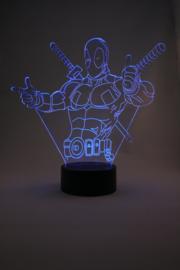 Deadpool led lamp